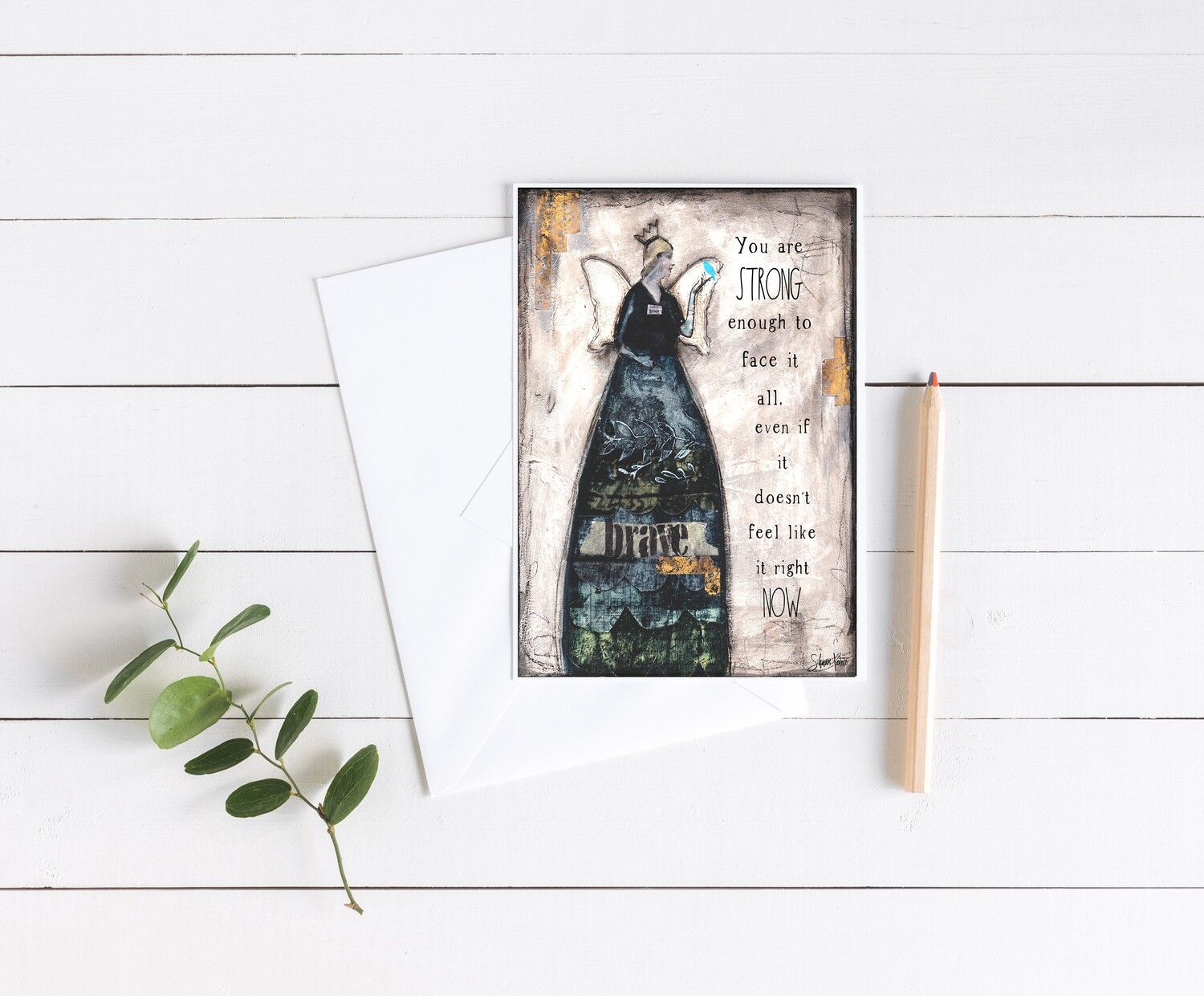 """""""You are strong enough"""" 5x7 4 pack card"""