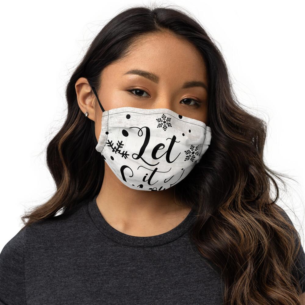 Let it snow Premium face mask