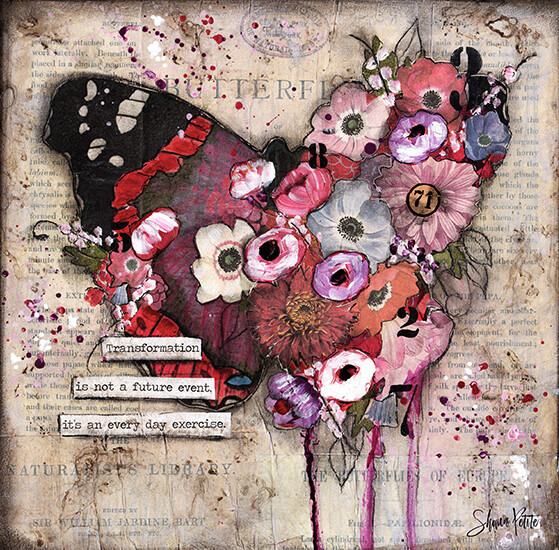 """Transformation is not a future event it's an every day exercise"" butterfly Print on Wood 12x12 Overstock"