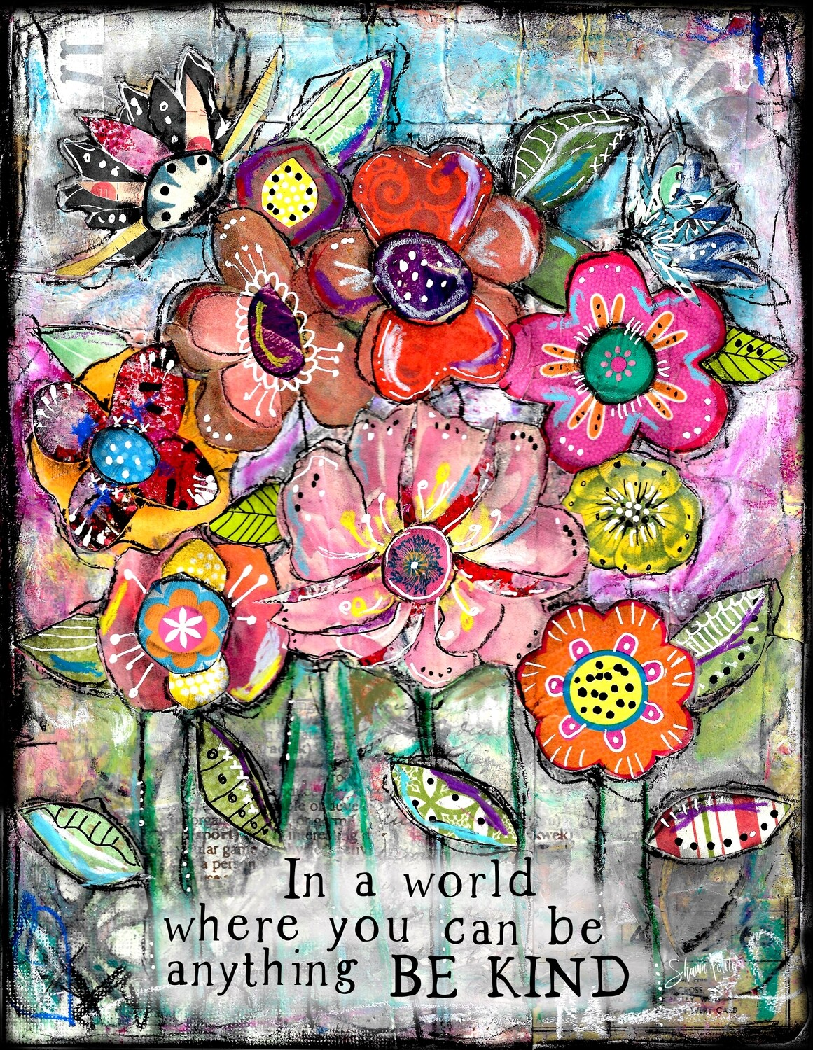 """""""In a world where you can be anything Be kind"""" Print on Wood 11x14 Overstock"""