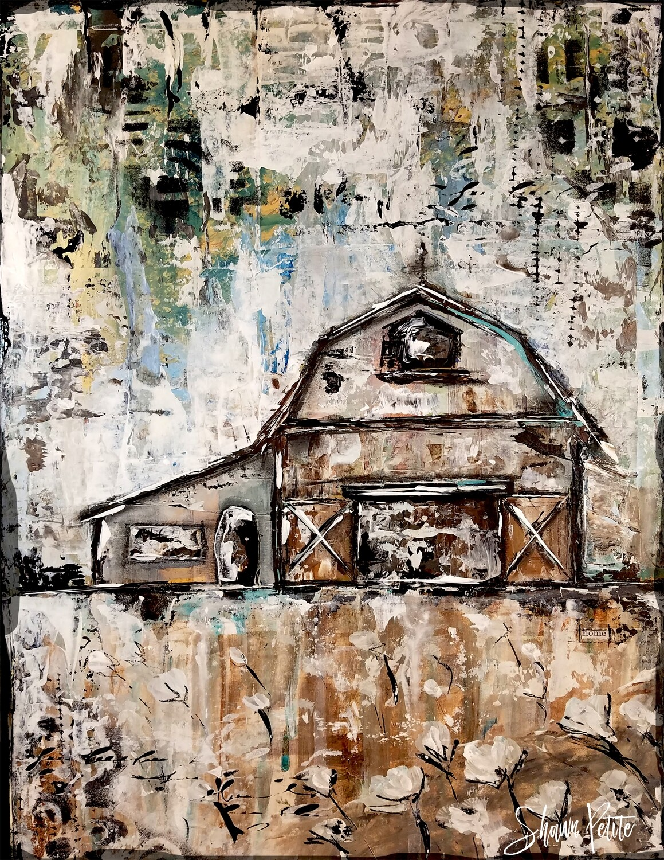 """Barn"" farmhouse Print on Wood 11x14 Overstock"