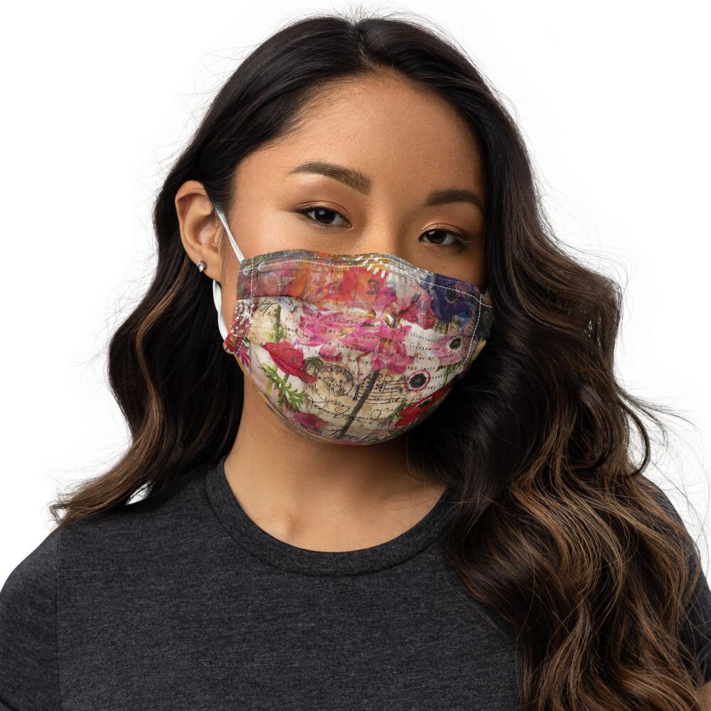 Floral Heart Premium face mask