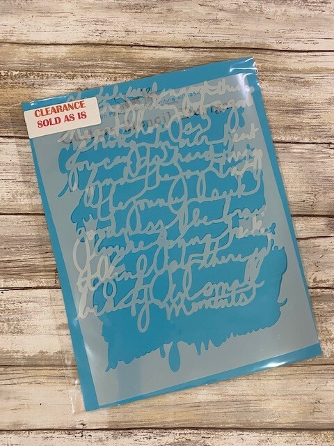 Journal Writing clearance stencil