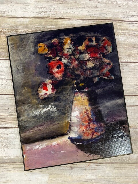 Flower In The Shadows Print on Wood 8x10 Clearance