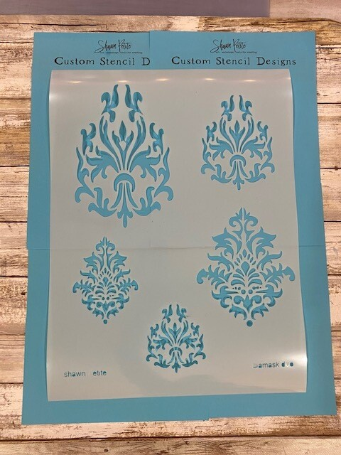 Damask Duo 12x16 stencil clearance