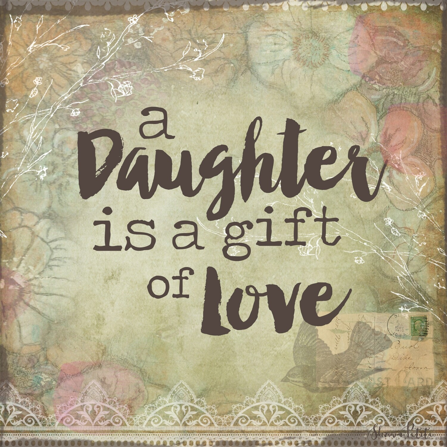 A daughter is a gift of Love digital instant download