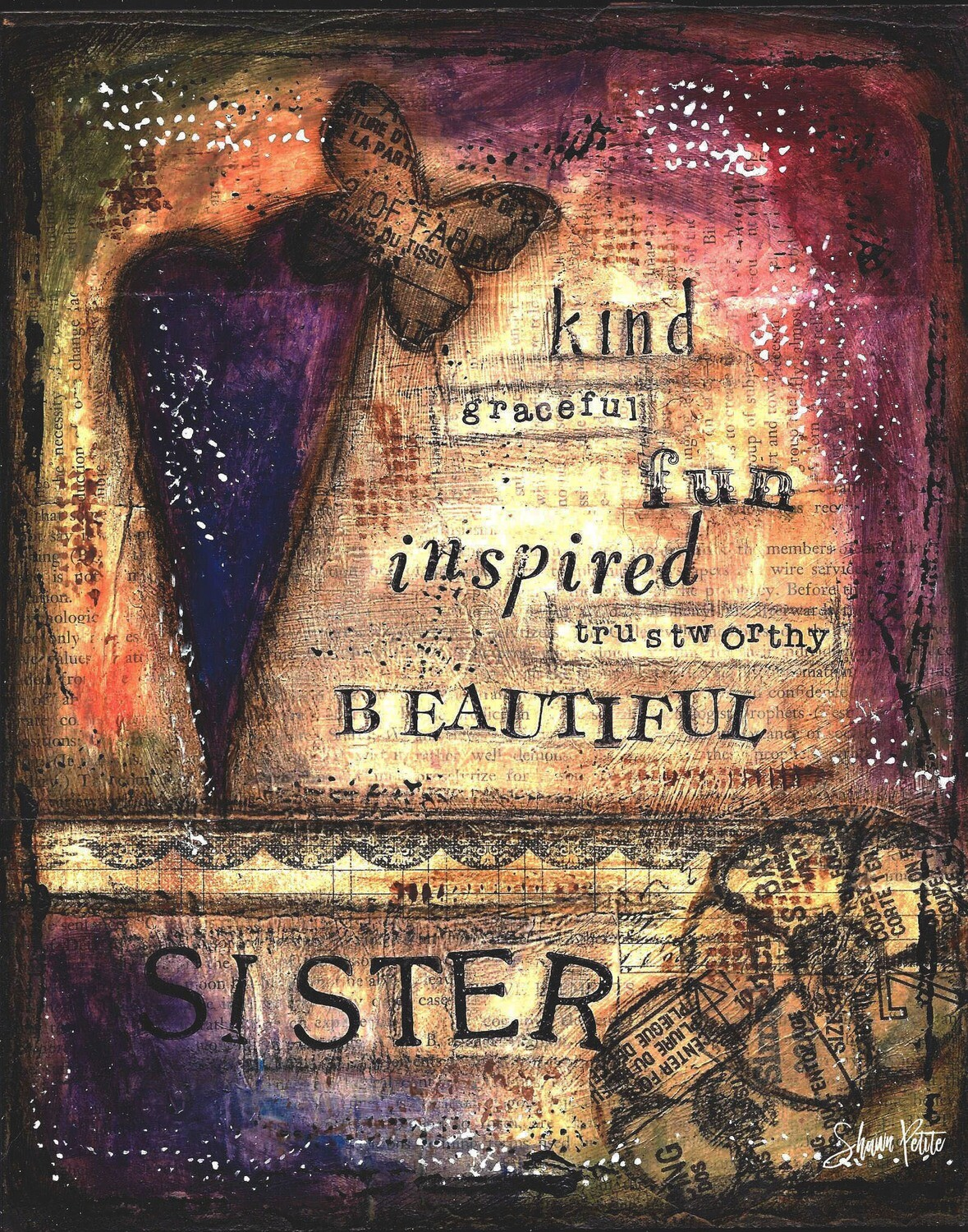 Beautiful Sister, digital instant download