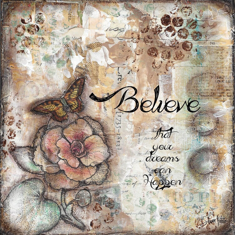 Believe, butterfly digital instant download