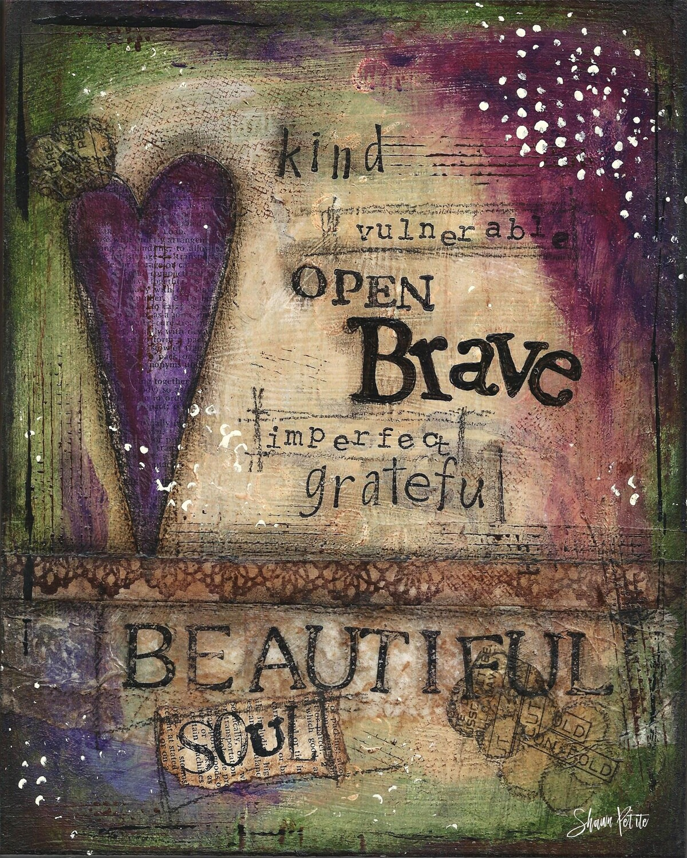 """Beautiful Soul"" Print on Wood 5x7 Overstock"