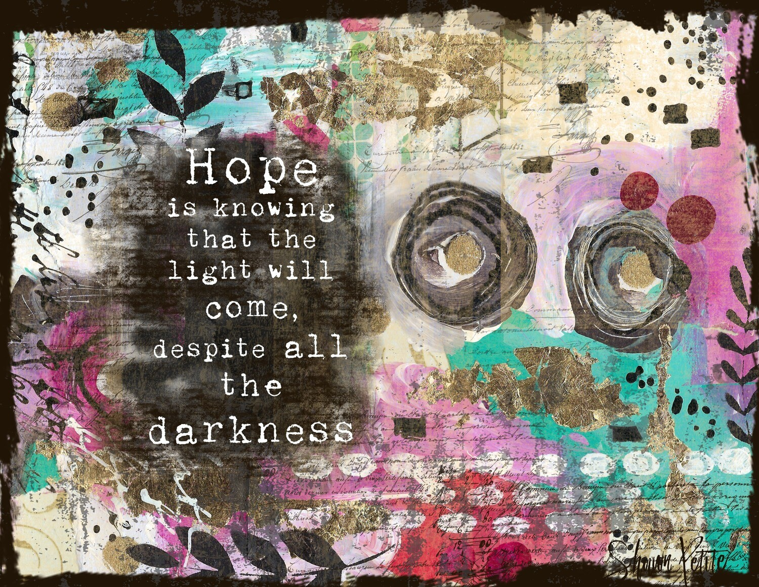"""Hope is knowing that light will come"" Print on Wood 5x7 Overstock"