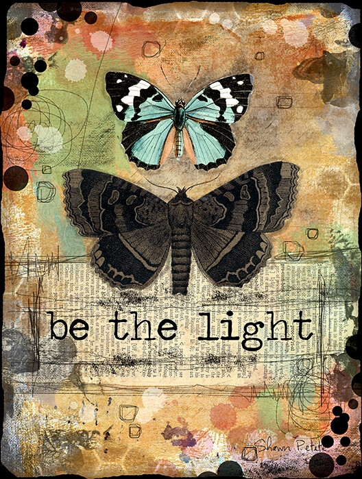 """""""Be the light"""" butterfly series, Print on Wood 4x6 Overstock"""