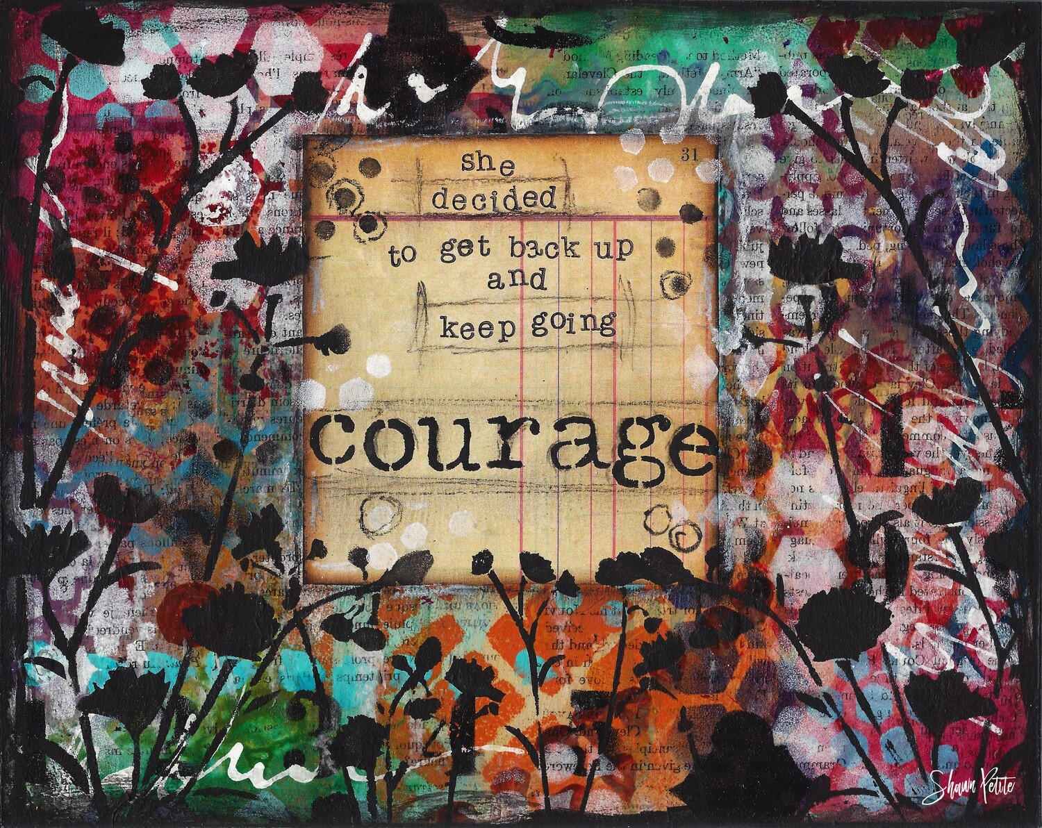 """""""Courage She Decided"""" Print on Wood 5x7 Overstock"""