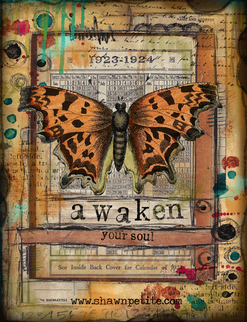 """""""Awaken your soul"""" butterfly series, Print on Wood 4x6 Overstock"""
