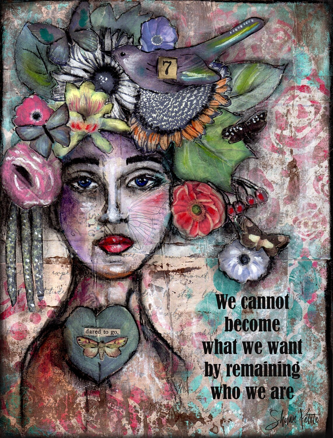 """""""Dared to go, who we are"""" Print on Wood 4x6 Overstock"""