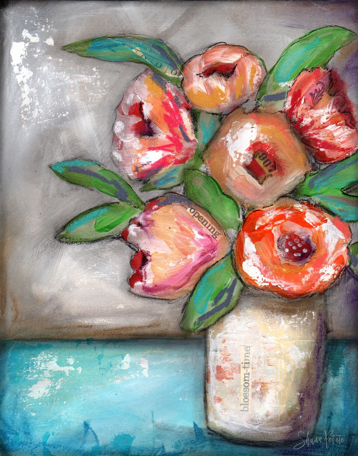 """""""Blossom Time"""" Print on Wood 5x7 Overstock"""