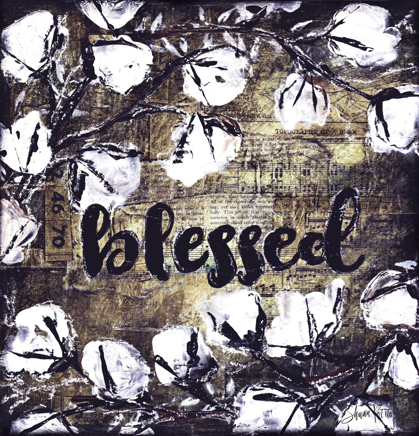 Blessed, farmhouse digital instant download