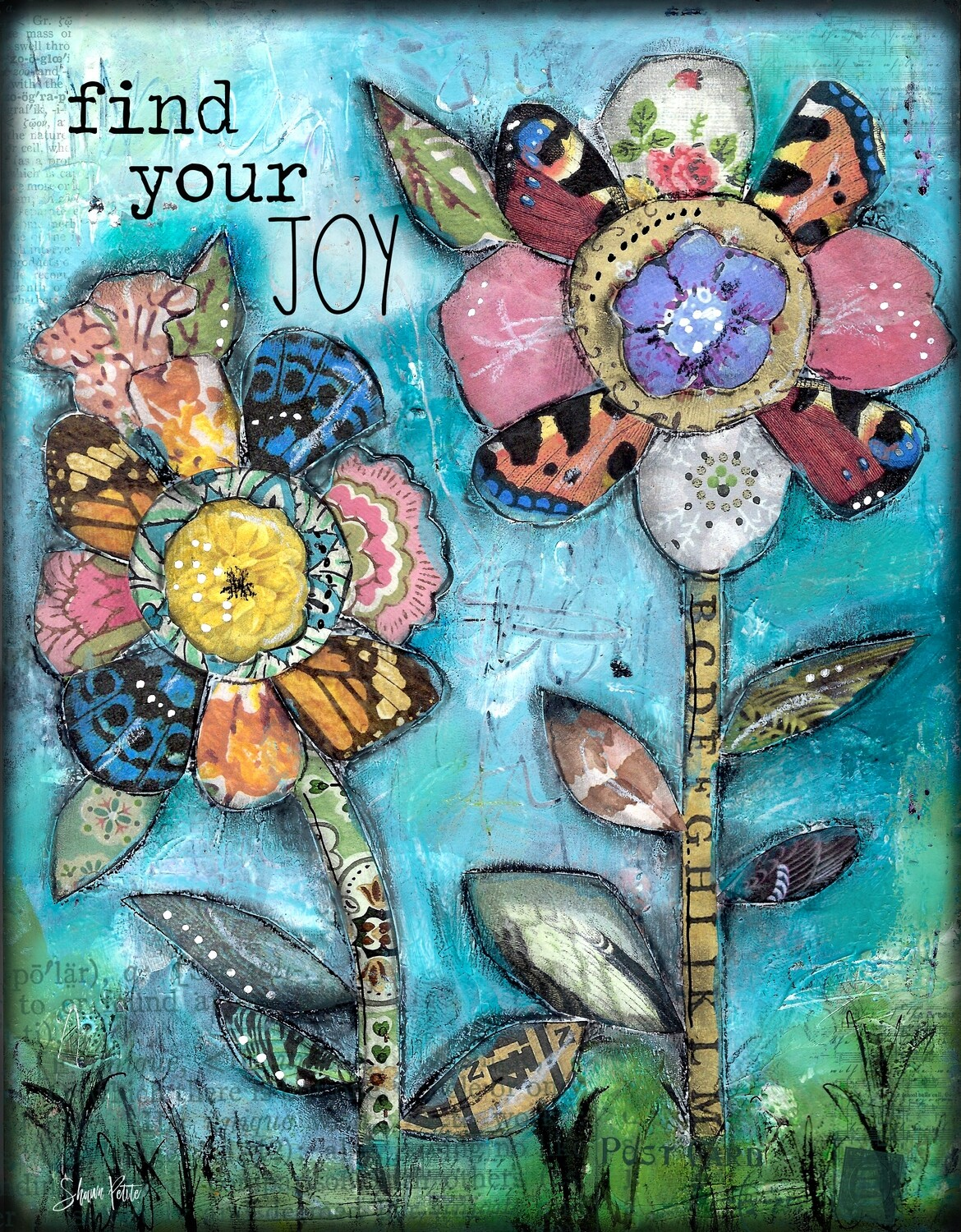 """""""Find your joy"""" Print on Wood 4x6 Overstock"""