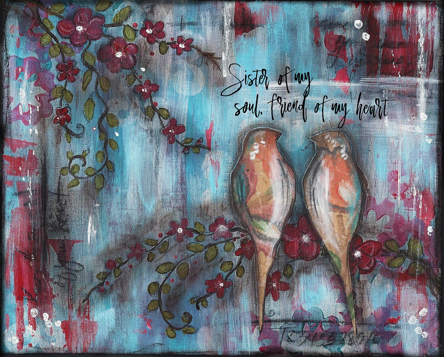 """""""Sister of my soul, friend of my heart"""" Print on Wood 5x7 Overstock"""