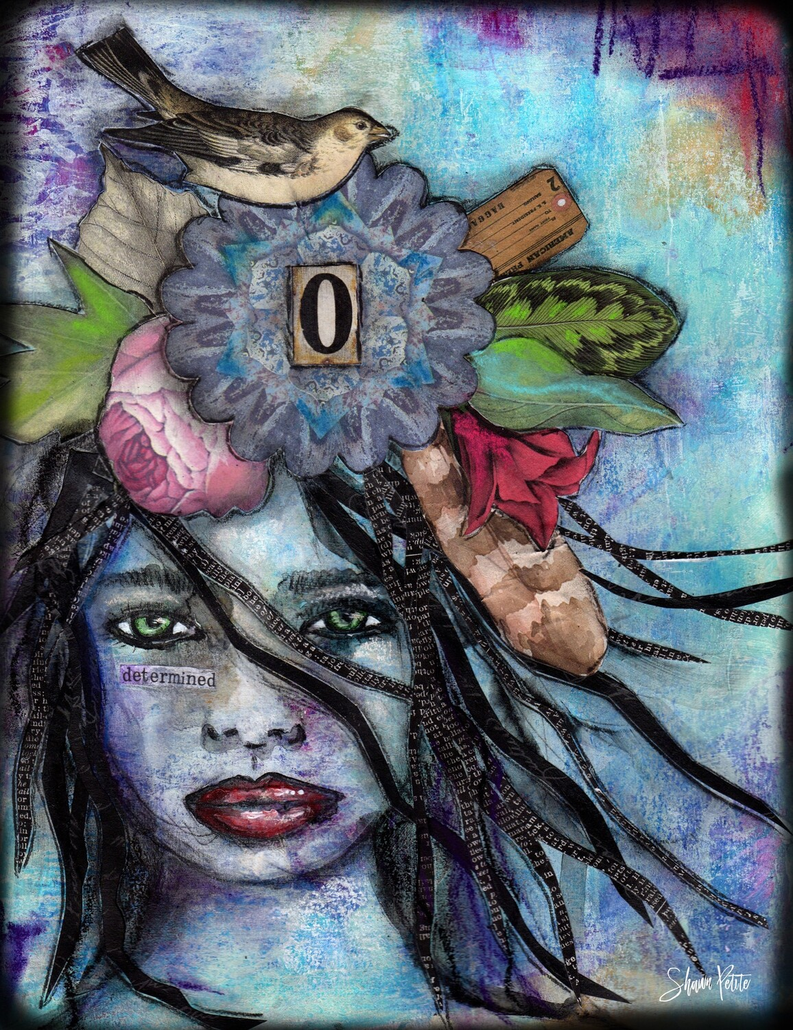 """""""Faces determined"""" Print on Wood 4x6 Overstock"""