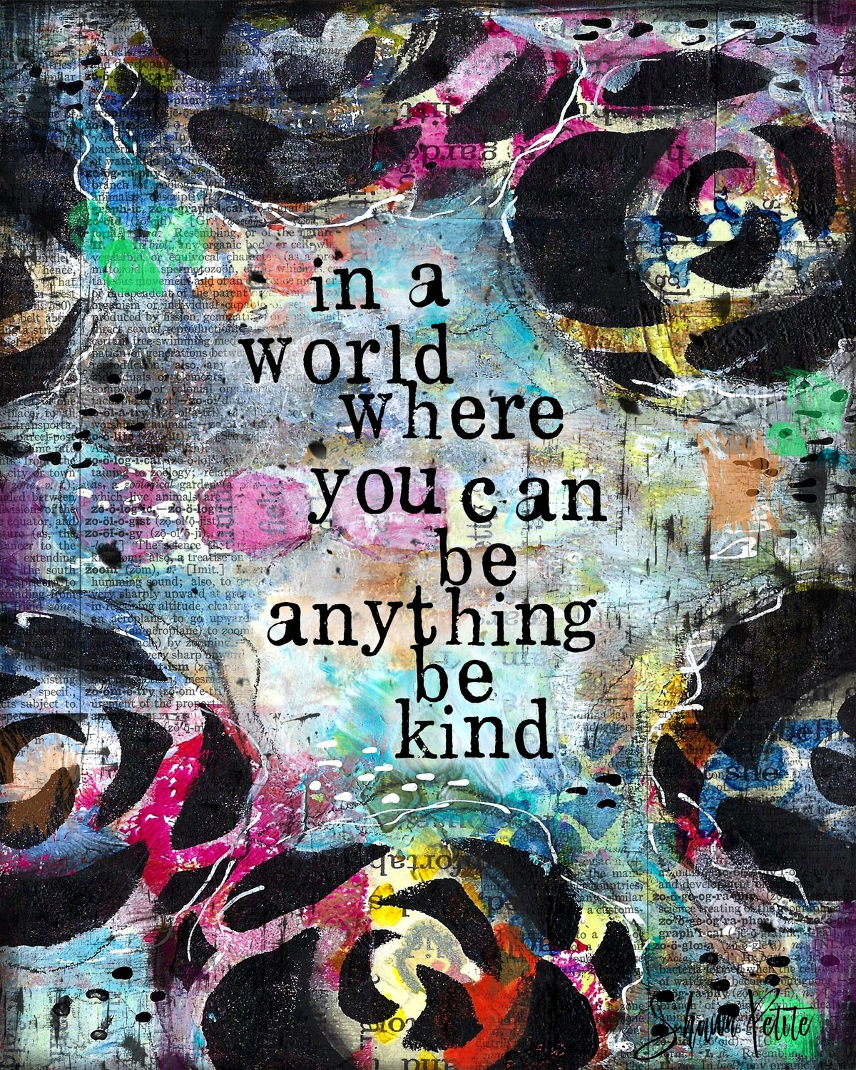 """""""In a world where you can be anything be kind"""" Print on Wood 5x7 Overstock"""