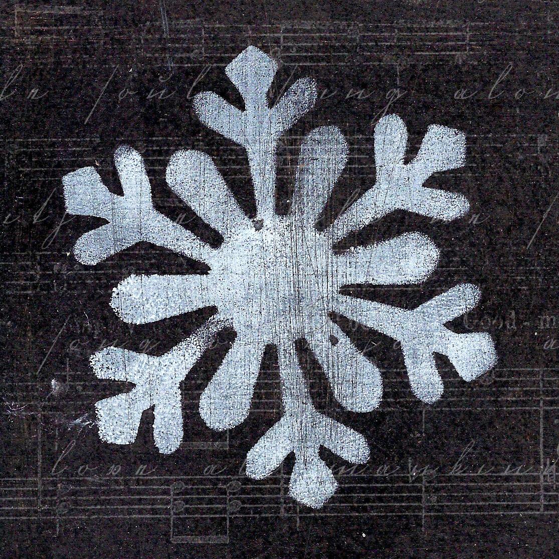"""""""Christmas Snowflake 2"""" print on Wood 4x4 Overstock"""