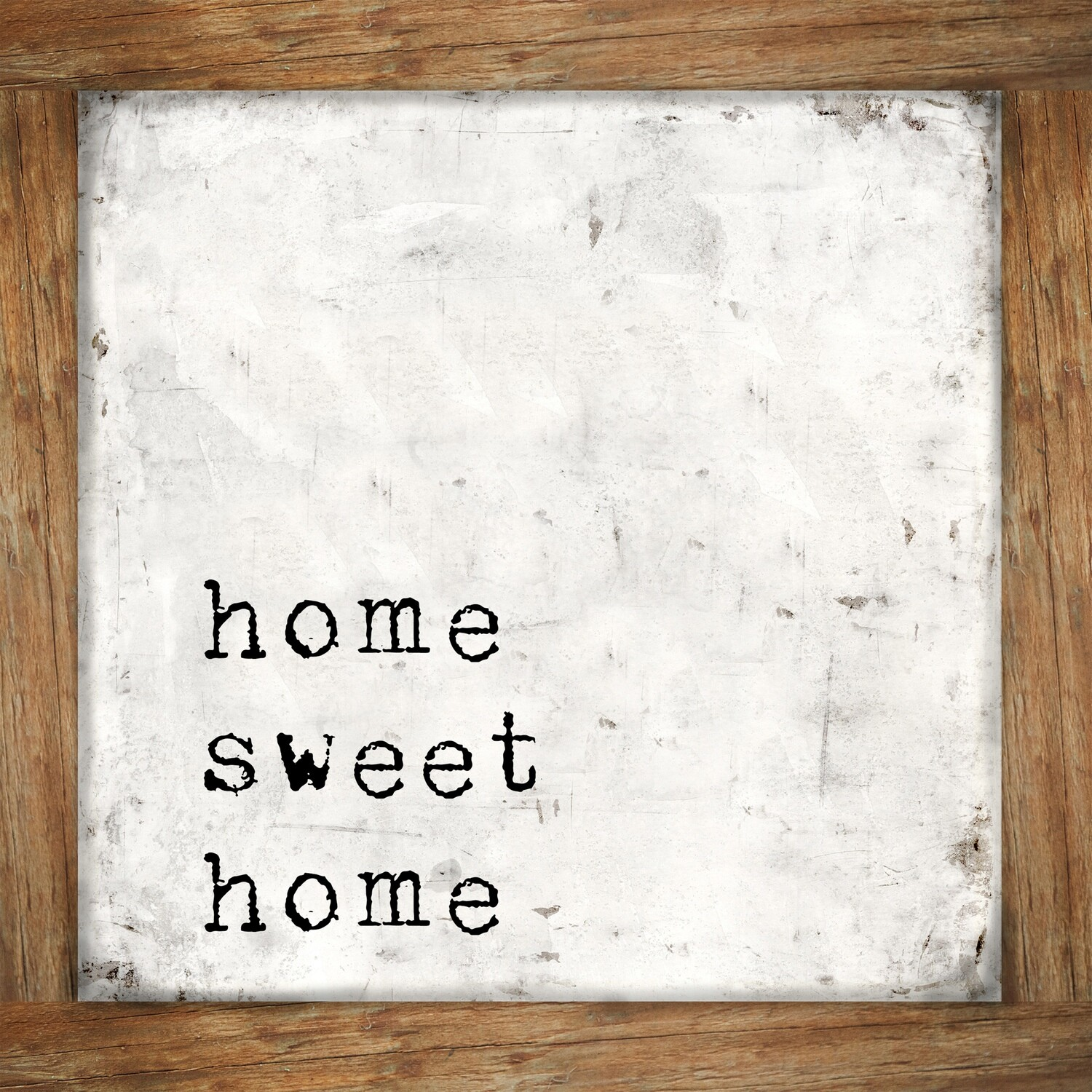 """""""Home sweet home wood frame"""" floral Print on Wood 8x8 Overstock"""