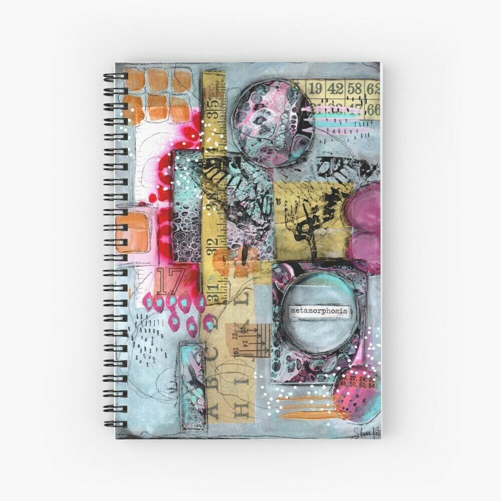 "Spiral Notebook ""Metamorphosis abstract"""