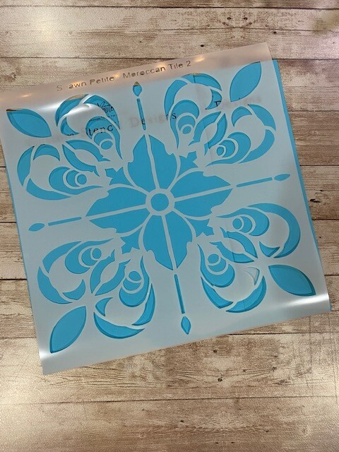 Moroccan tile 2 12x12 clearance stencil