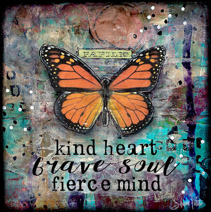 """Kind heart brave soul fierce mind"" butterfly Print on Wood 4x4 Overstock"