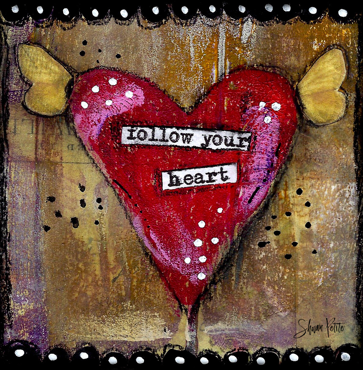 """Follow your heart"" Print on Wood 4x4 Overstock"