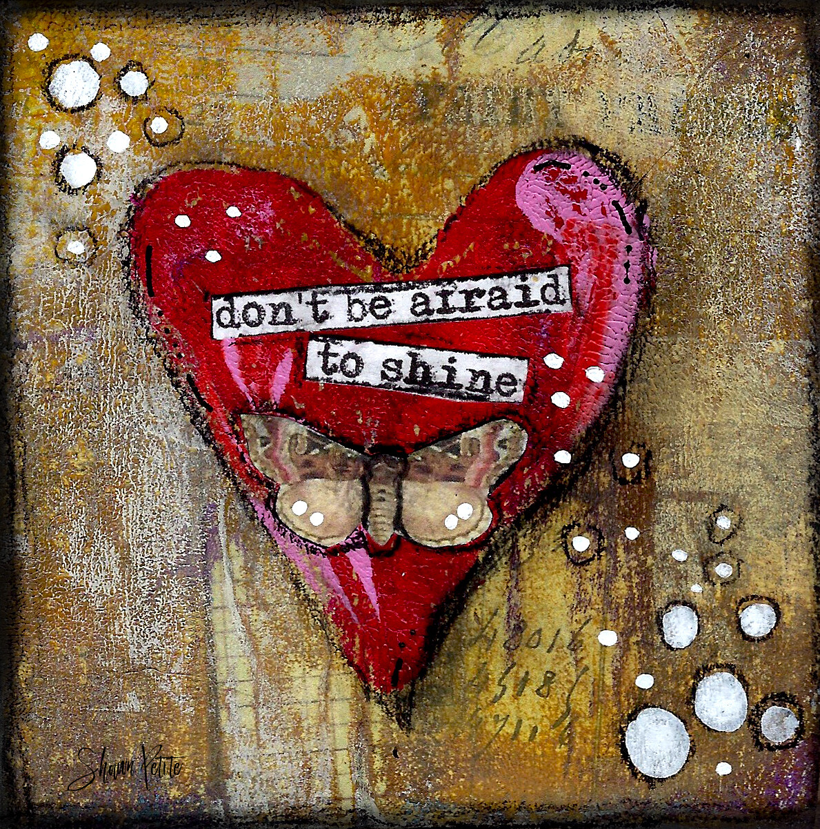 """Don't be afraid to shine"" Print on Wood 4x4 Overstock"