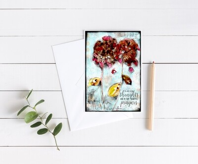 """""""Hydrangea Sympathy"""" 5x7 card"""