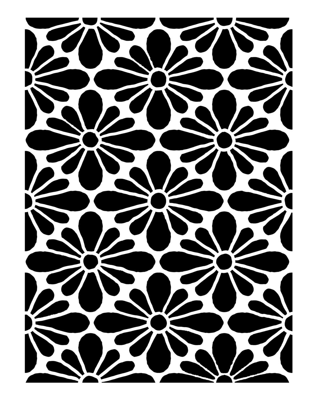Vintage pattern 2 stencil 8x10