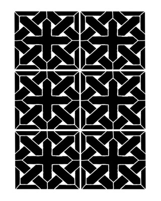 Vintage pattern 3 stencil 8x10