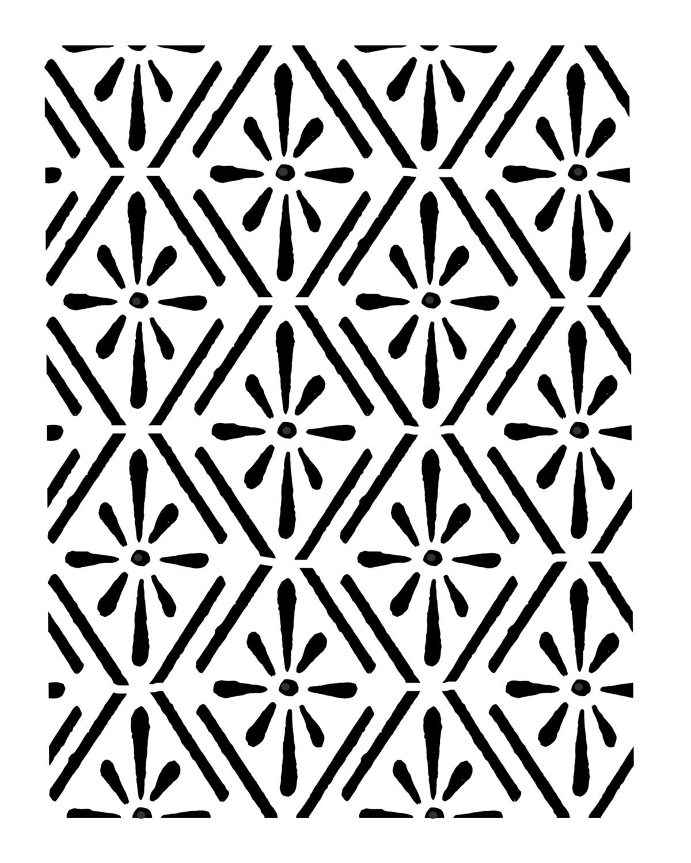 Vintage pattern 1 stencil 8x10