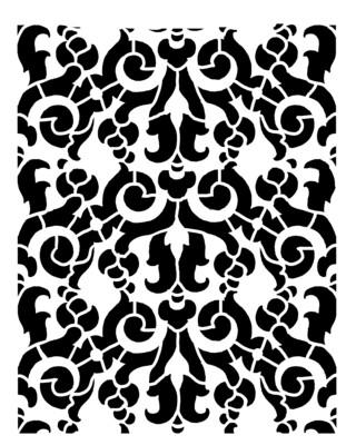 Vintage pattern 4 stencil 8x10
