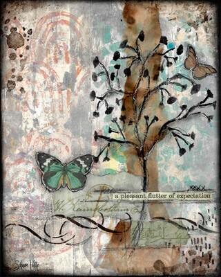 """""""A pleasant flutter of Expectation"""" Print on Wood and Print to be Framed"""