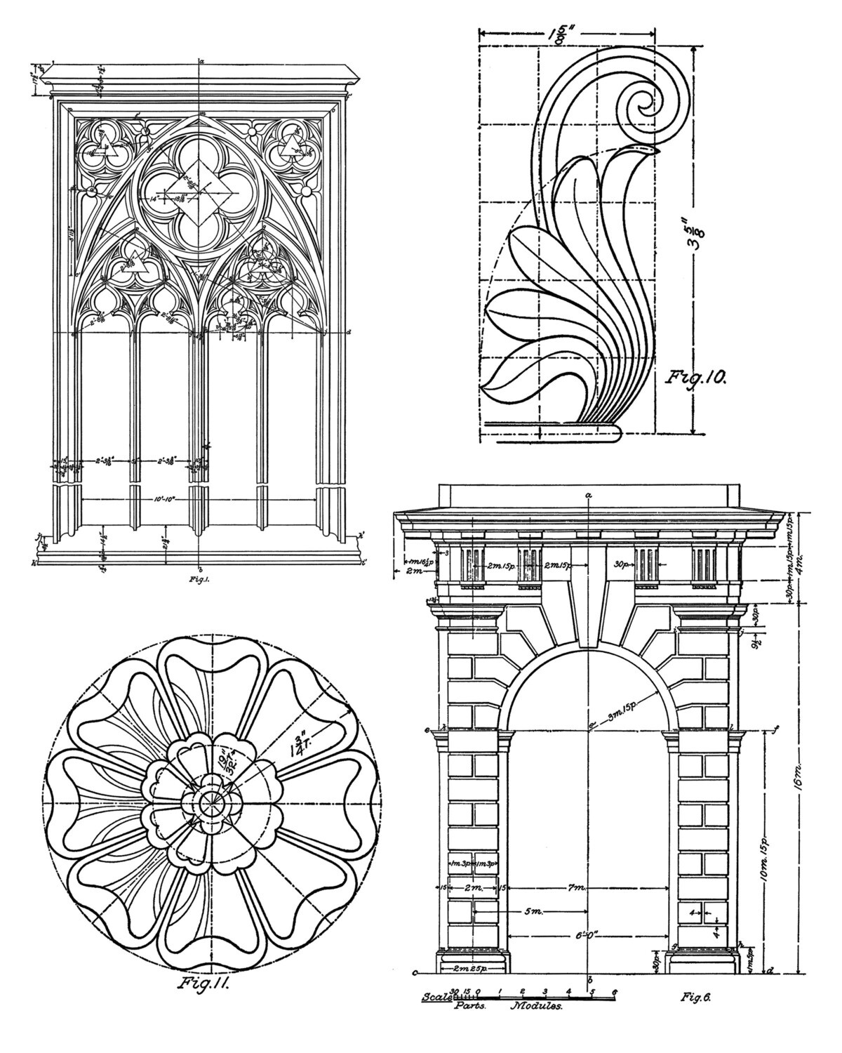 Architectural Element collage pak instant download 8 pages