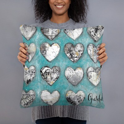 Grateful Hearts Basic Pillow