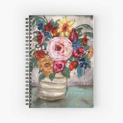"""Spiral Notebook """"Comfort Floral"""""""