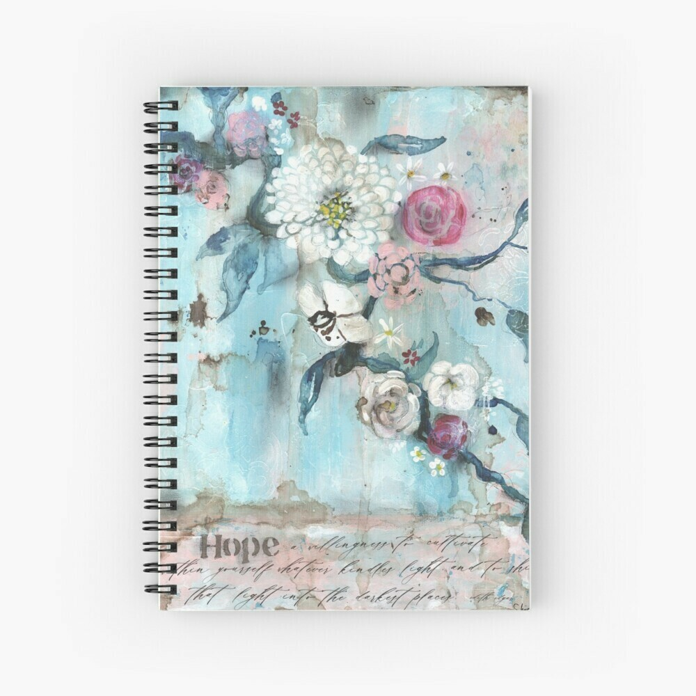 """Spiral Notebook """"Hope in the Darkness"""""""