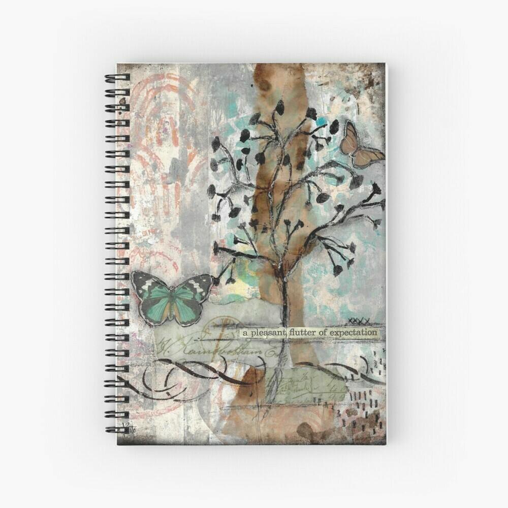 """Spiral Notebook """"A Pleasant flutter"""""""