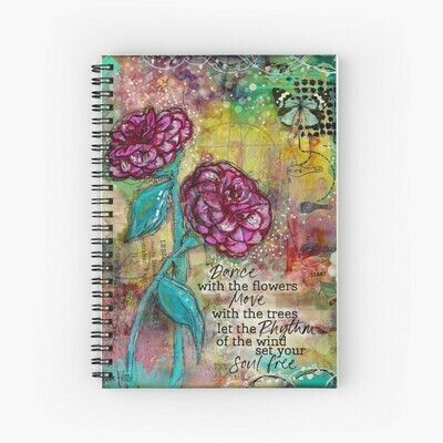 """Spiral Notebook """"Dance with the Flowers"""""""