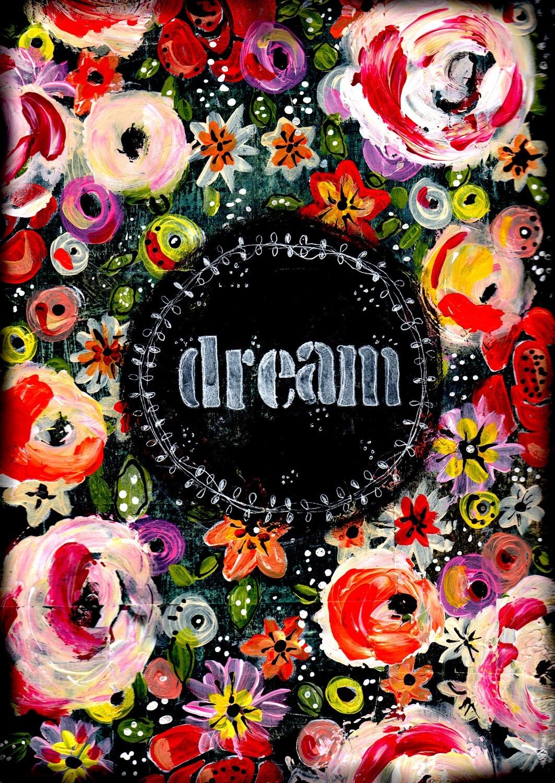 """Dream"" Print on Wood 11x14 Overstock"