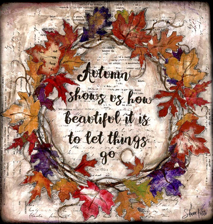 """""""Autumn"""" Print on Wood 4x4 Overstock"""