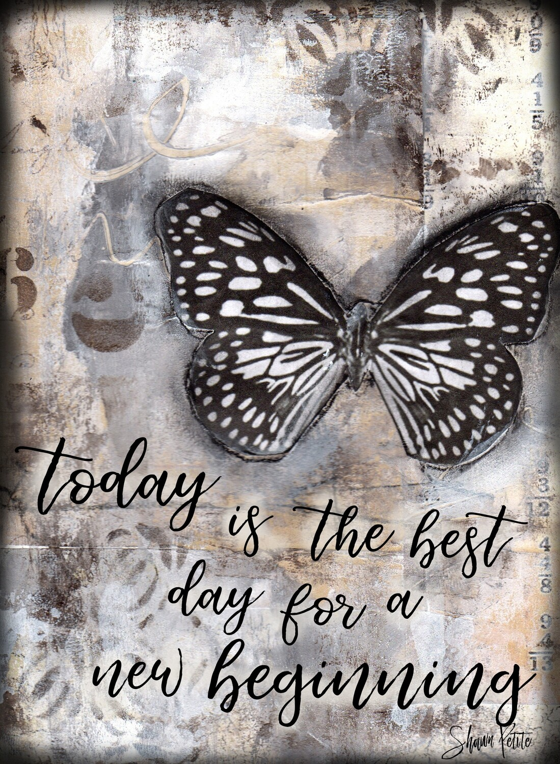 """""""Today is the best day for a new beginning"""" butterfly Print on Wood 8x10 Overstock"""