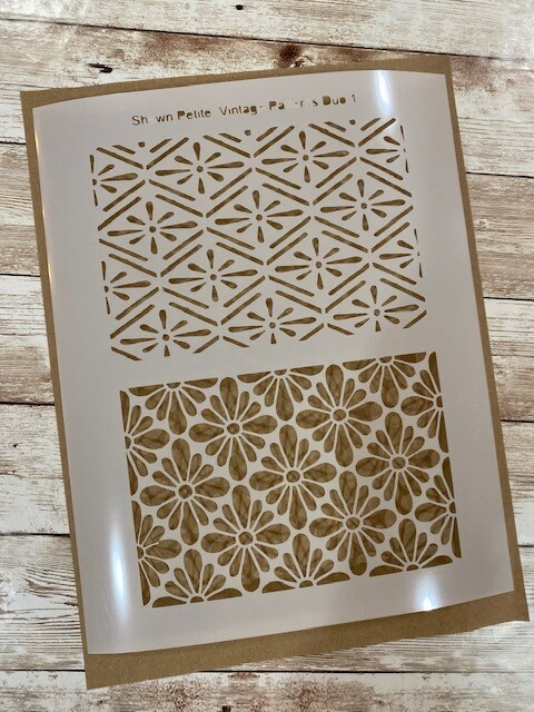 Vintage Pattern Duo 1 clearance stencil