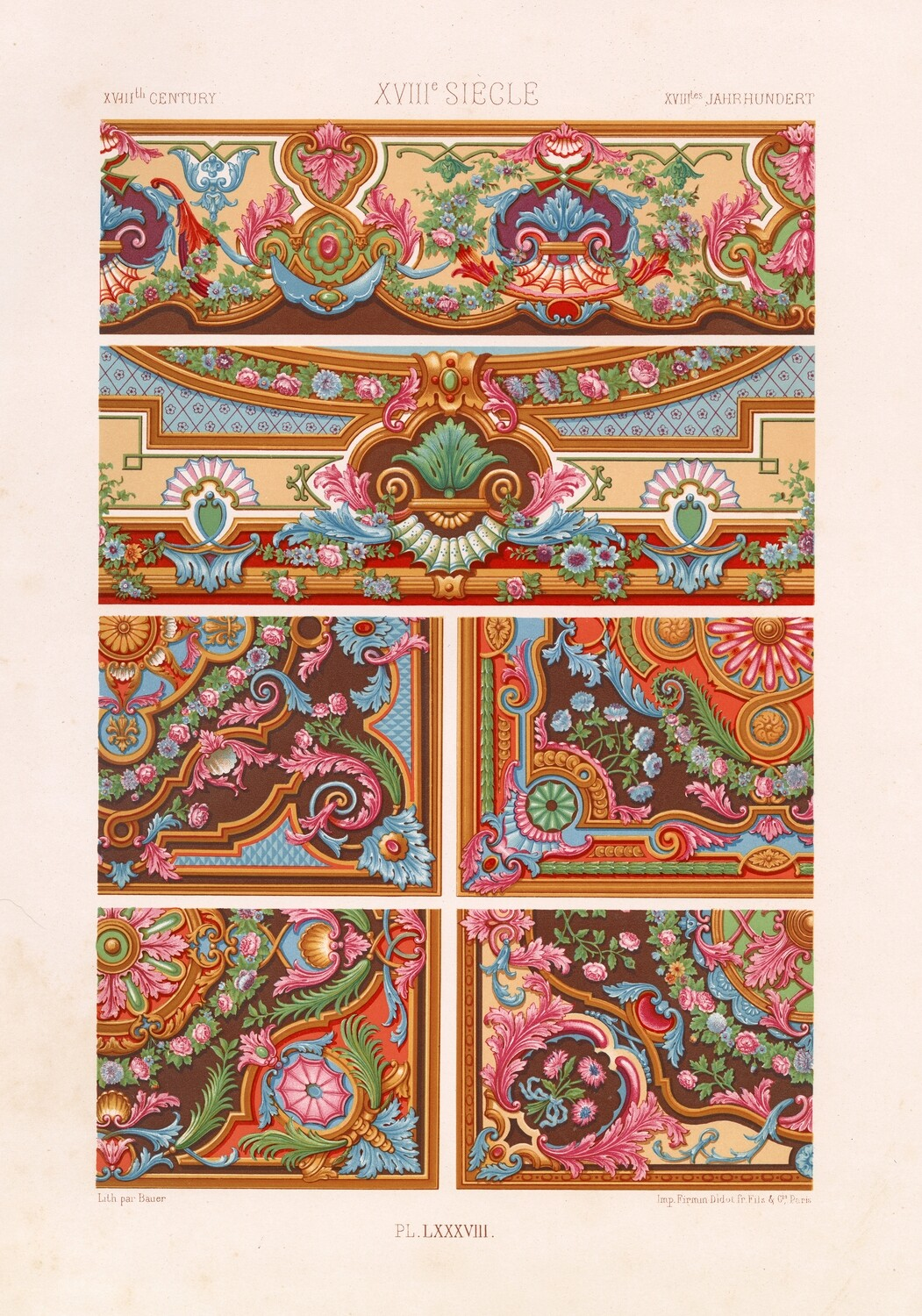 17th Century Elements collage pak instant download 4 pages