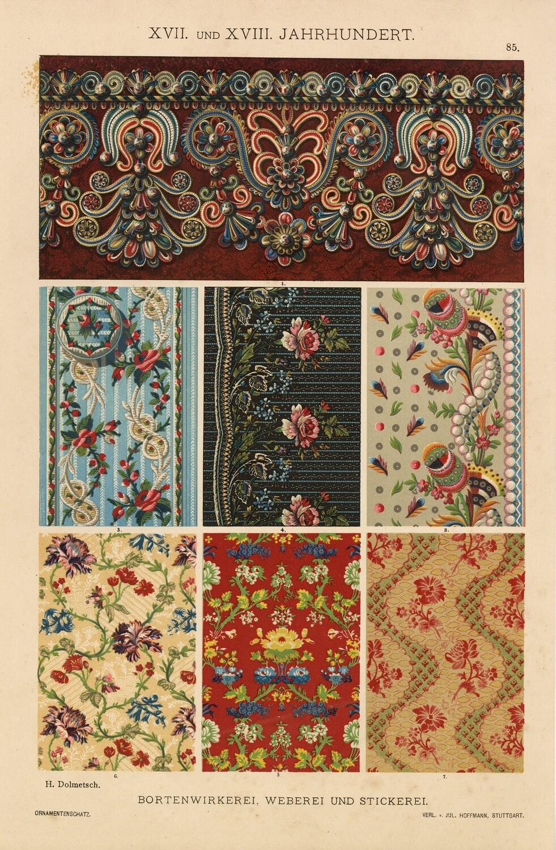 Ornate Vintage Wallpaper collage pak instant download 6 pages