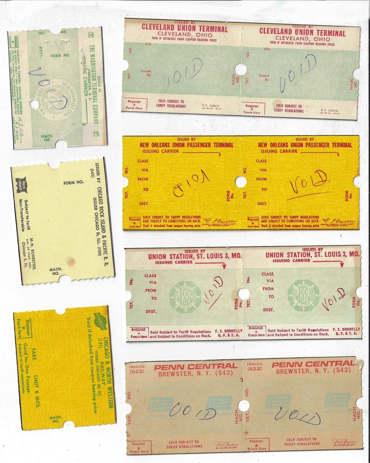 Train Tickets instant downloads collage pak 8 pages